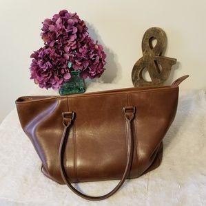 LL Bean Town & Field Leather Bag